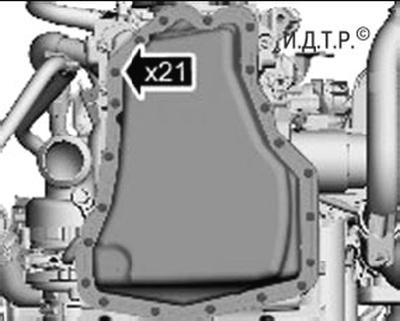 Замена уплотнения масляного картера двигателя duratorq-tdci объемом 2,2 л Форд мондео 4 (2007-2014)
