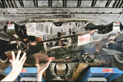 Снятие и установка брызговика и защиты картера двигателя Форд мондео 4 (2007-2014)