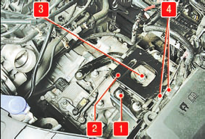 Замена левой опоры подвески силового агрегата Форд мондео 4 (2007-2014)