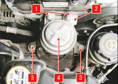 Замена правой опоры подвески силового агрегата Форд мондео 4 (2007-2014)