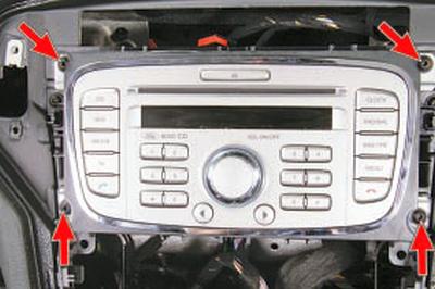 Снятие и установка автомагнитолы Форд мондео 4 (2007-2014)