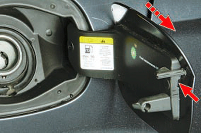 Снятие и установка крышки люка наливной трубы топливного бака Форд мондео 4 (2007-2014)