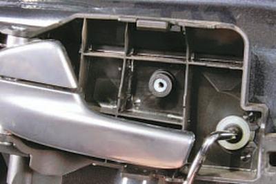 Замена внутренней ручки привода замка передней двери Форд мондео 4 (2007-2014)