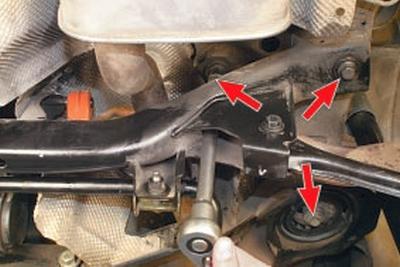 Снятие и установка поперечины задней подвески Форд мондео 4 (2007-2014)